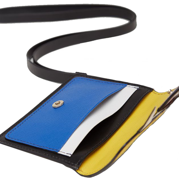"""Monster Wallet"" Yellow/Blue"