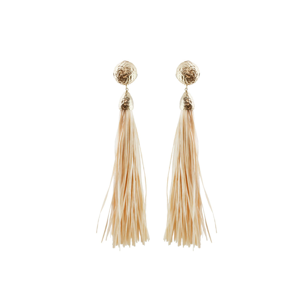 """Brazil"" Earrings with straw"