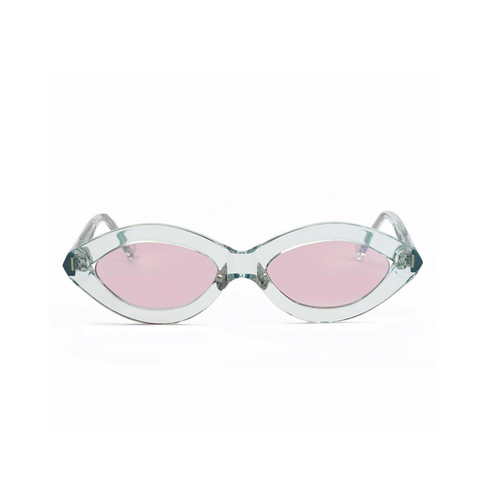 """ZOOM"" LIGHT BLUE / PINK SUNGLASSES"