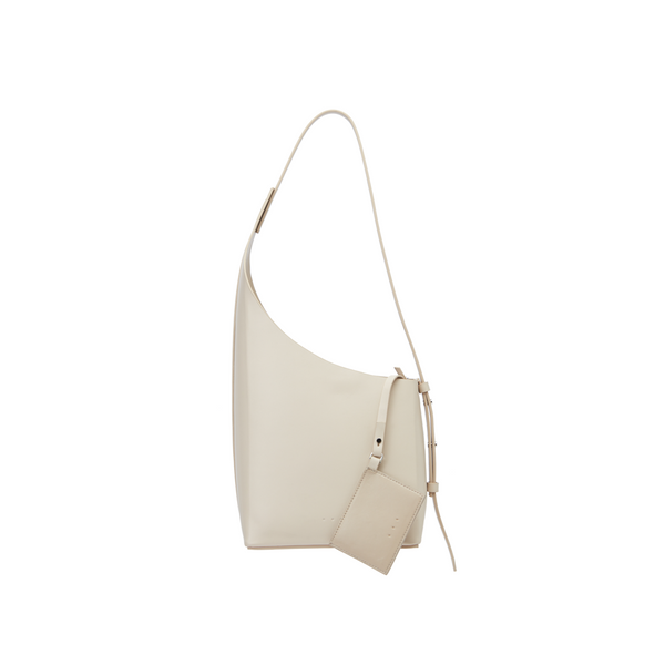Demi Lune Asymmetric Bucket Bag with adjustable Strap