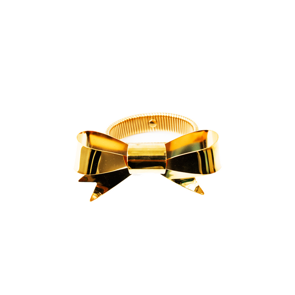 """BOW"" GOLD-PLATED BRACELET"