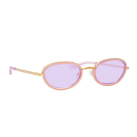 """Area 1 Oval Sunglasses in Light Gold Tone"""
