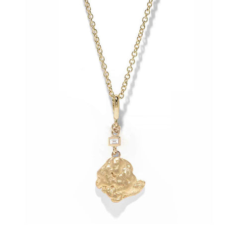 """Aurum Baguette Diamond"" Necklace"