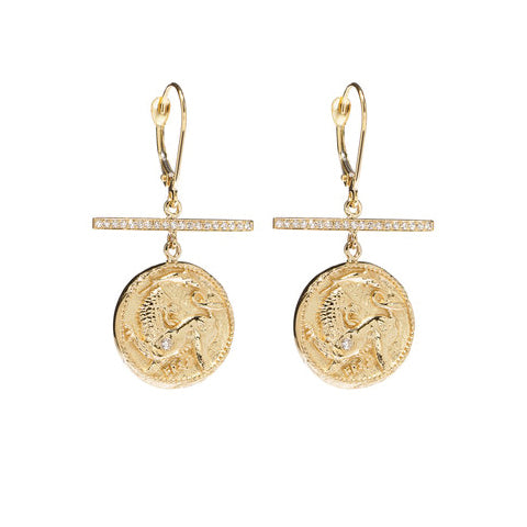 """Animal Kingdom Diamond Earrings"""