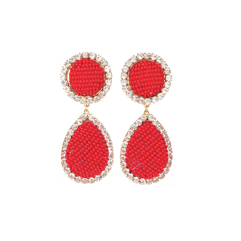 """Bananitas Red Earrings"""