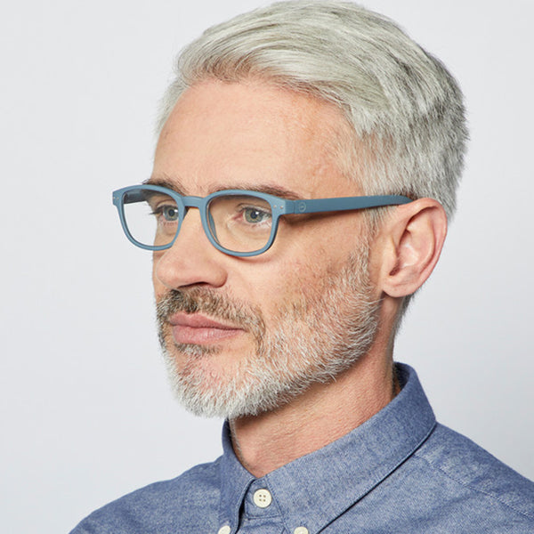 """B"" Grey Reading Glasses"
