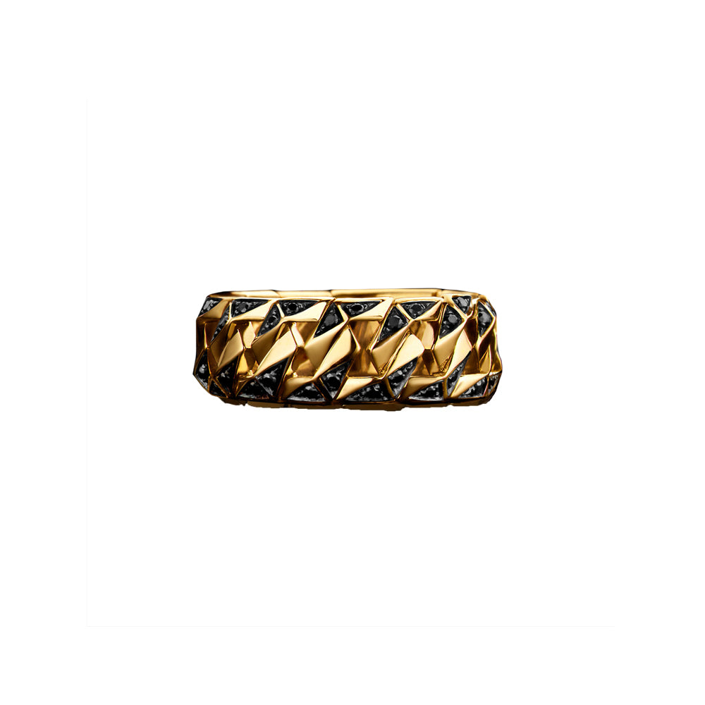 """BOND"" YELLOW GOLD SIGNATURE RING I"