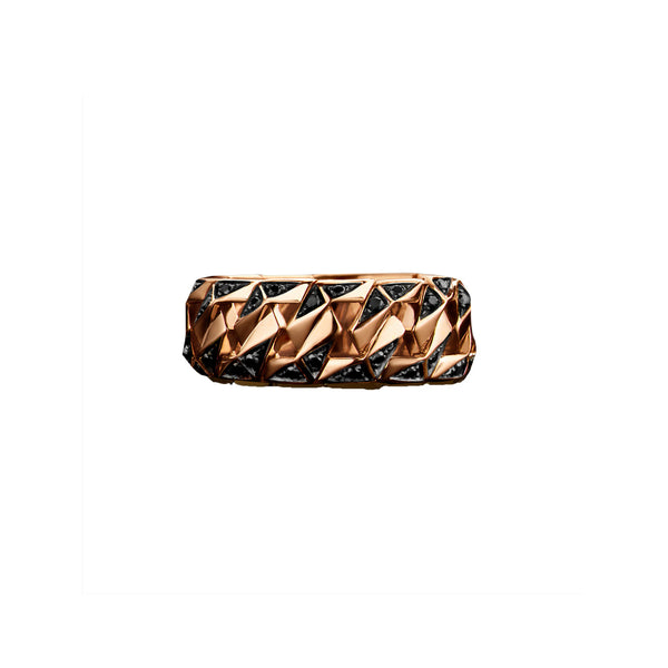 """BOND"" ROSE GOLD SIGNATURE RING I"