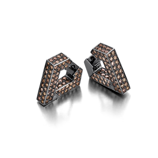 """BRUTE DIAMANTI BROWN"" EARRINGS"
