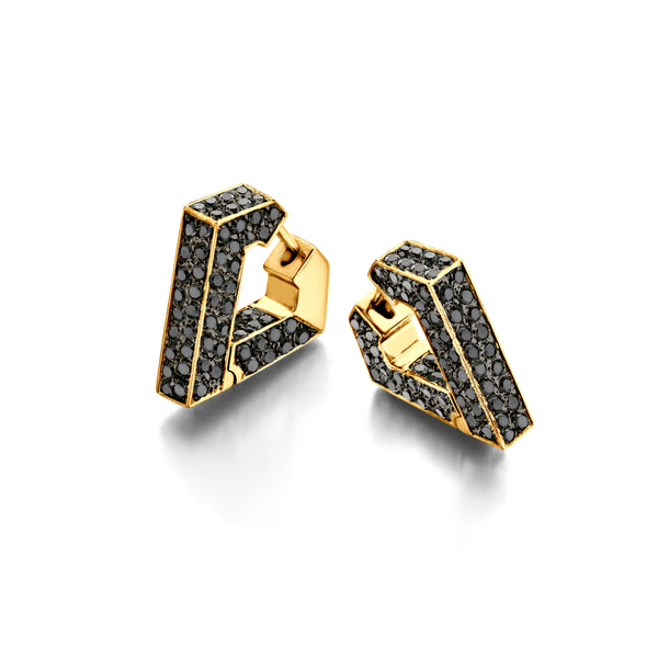 """BRUTE DIAMANTI BLACK"" EARRINGS"