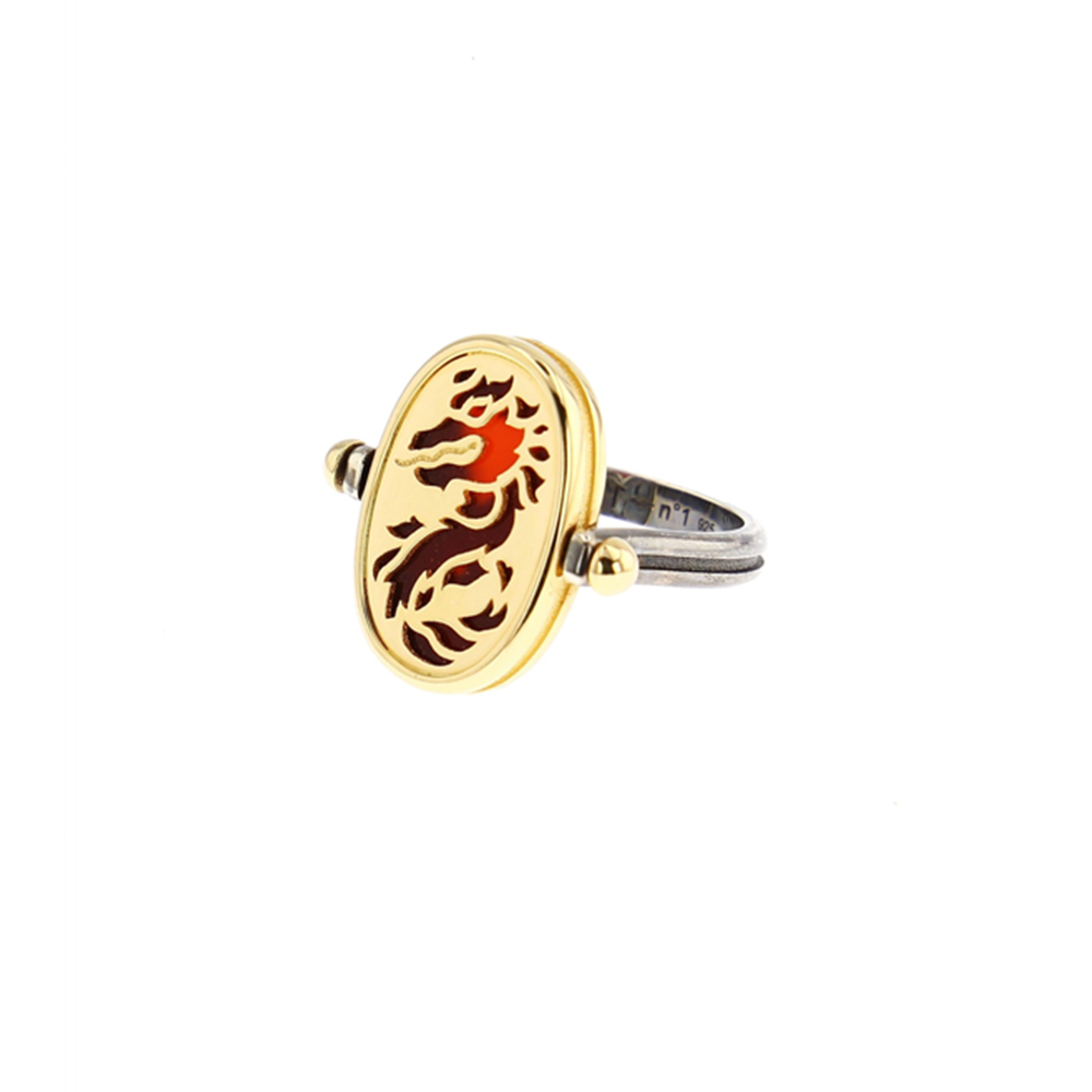 """4 ELEMENTS FIRE"" 18K YELLOW GOLD RING"