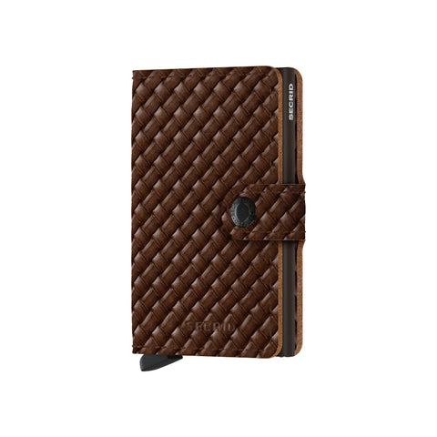 """BASKET"" BROWN MINI-WALLET"