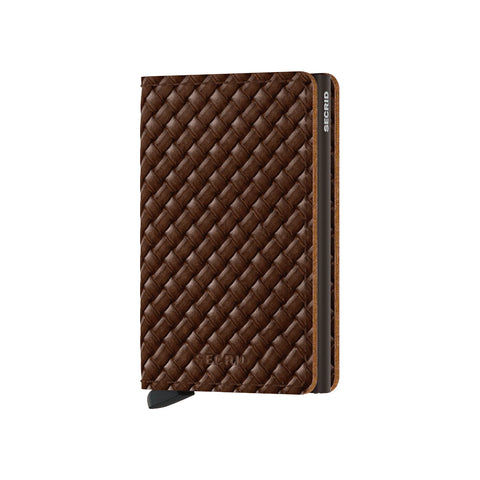 """BASKET"" BROWN SLIM-WALLET"