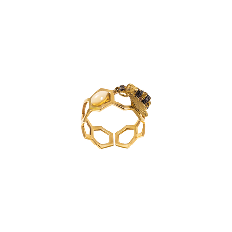 """Bee Hive"" Ring"