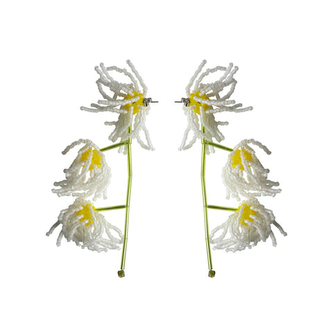 """BELLIS PERENNIS"" WHITE EARRINGS"