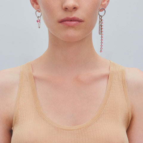 """BIANCA"" LARGE MONO EARRING"