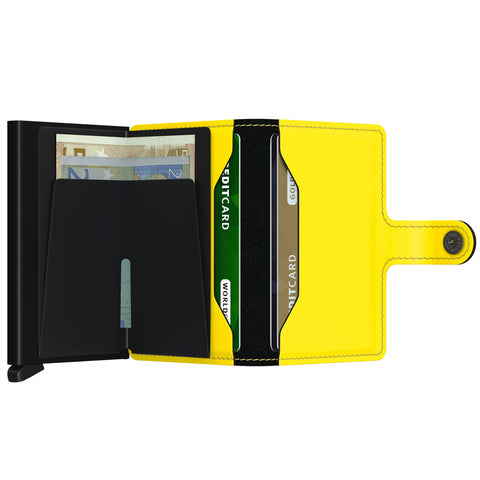 """MATTE"" BLACK & YELLOW MINI-WALLET"