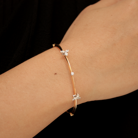 """THIN DIAMOND"" 18K GOLD BANGLE"