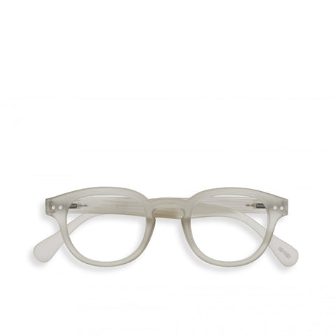 """C"" Defty Grey Reading Glasses"
