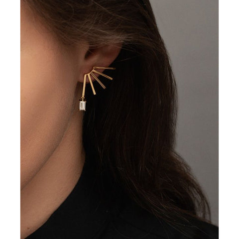 """CIRCUIT BAGUETTE DIAMOND"" EARRINGS"