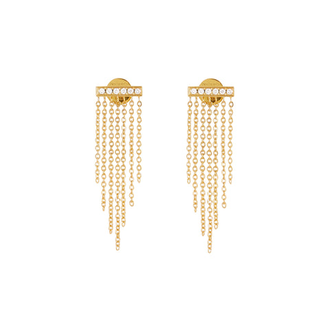 """FRINGE II"" 18K SIAM YELLOW GOLD EARRINGS"