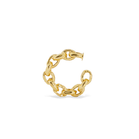 """Diamond Chain Ear cuff"" 18K Yellow Gold"