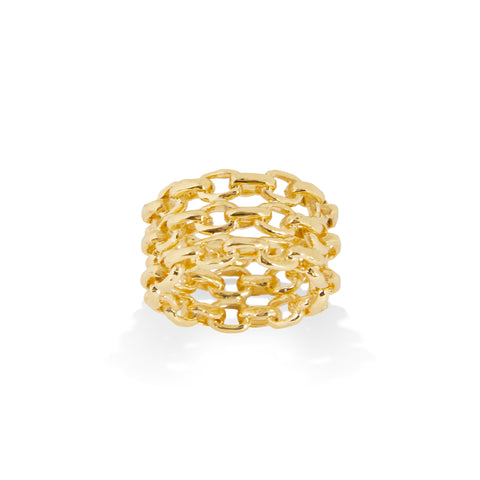 """THREE RING"" 18K SIAM YELLOW GOLD"