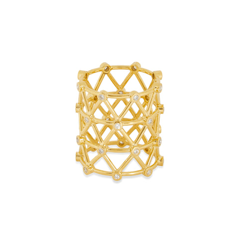 """ZIGZAG"" 18K SIAM YELLOW GOLD RING"