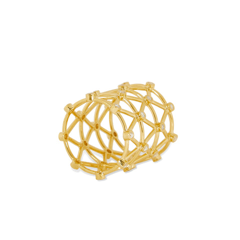 """Zigzag Ring"" 18K Yellow Gold"