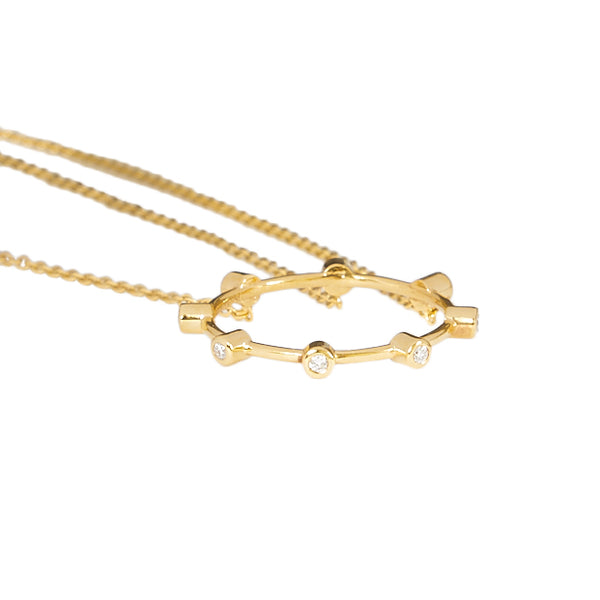 """Diamond Triple Hand-Bracelet"" 18K Yellow Gold"