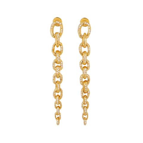 """Diamond Edges Earrings"" 18K Yellow Gold"