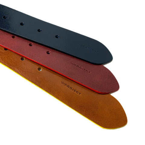 """COLOUR CARD"" NAVY/BORDEAUX BELT"