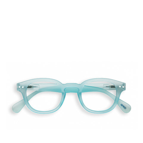 """C"" Light Azure Reading Glasses"