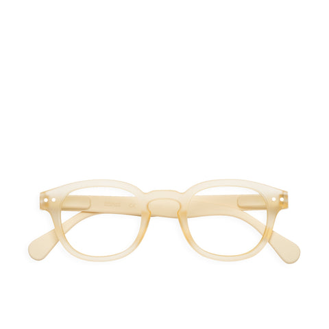 """C"" Neutral Beige Reading Glasses"