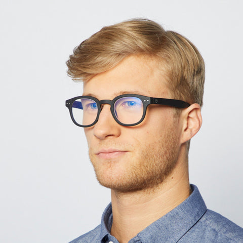 """C"" Black Soft Screen Reading Glasses"
