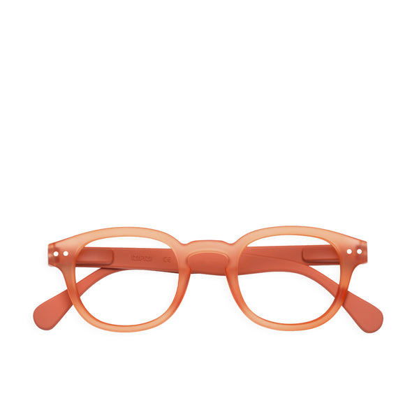 """C"" Warm Orange Reading Glasses"