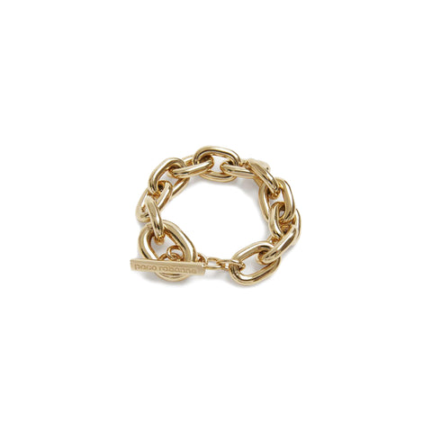 """THICK CHAIN"" GOLD-TONED BRACELET"
