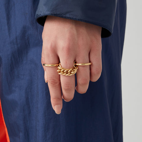 """Chain Link Ring 2"""
