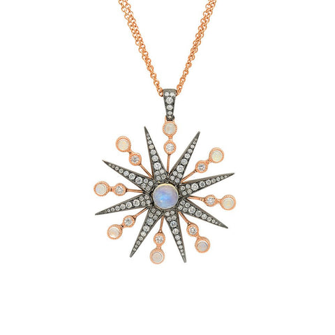 """Starburst"" 18K Gold Necklace"