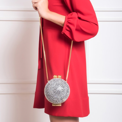 """CRYSTAL BALL"" SILVER BAG"