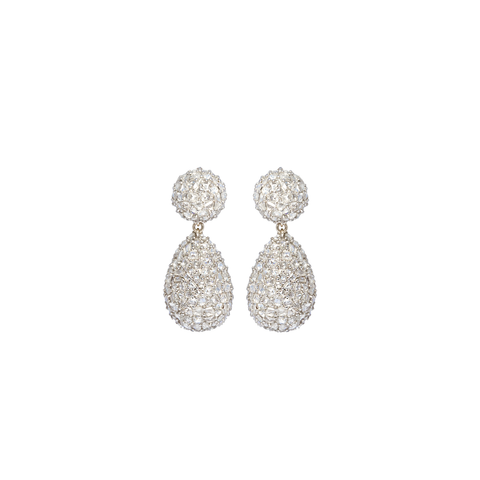 """DIAMOND TEAR"" 18K GOLD & DIAMONDS EARRINGS"