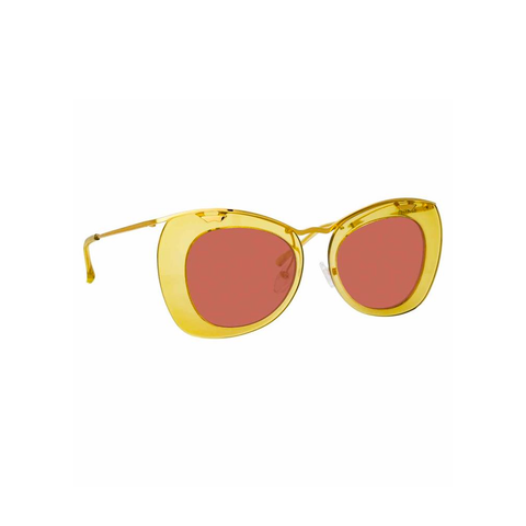 "Dries Van Noten ""193 C3"" Mustard Cat Eye Sunglasses"