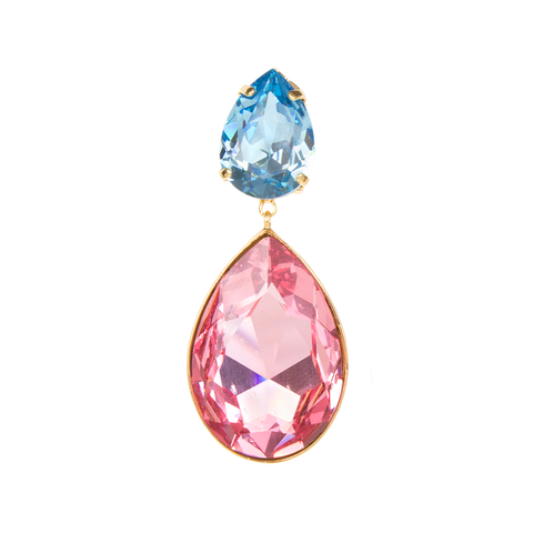 """Dynasty"" Blue and Pink Mono Earring"