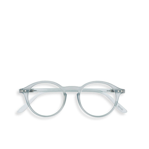 """D"" Frosted Blue Reading Glasses"