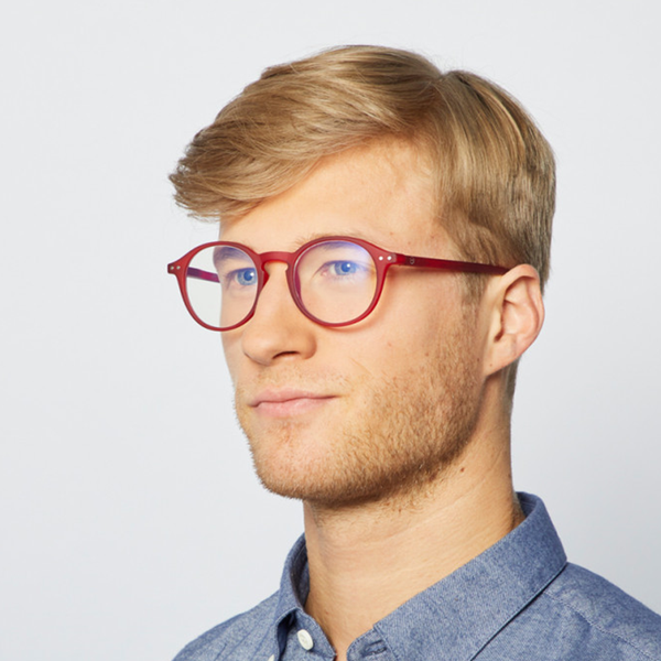 """D"" Red Screen Reading Glasses"