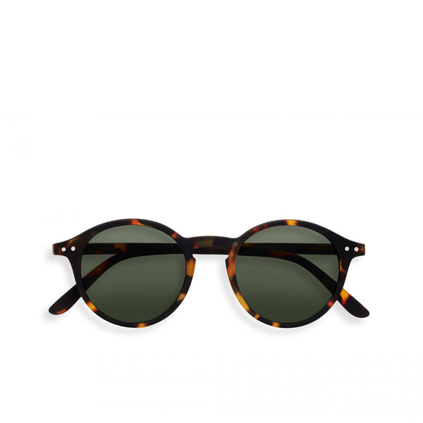 """D"" Tortoise Green Lenses Sunglasses"