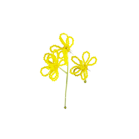 """DALEA SIMPLEX"" YELLOW EARRINGS"