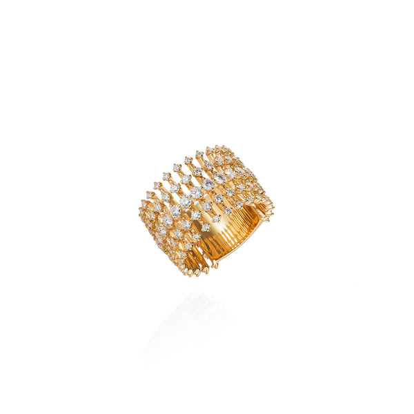 """Disco Wide Band"" 18k Gold Ring"