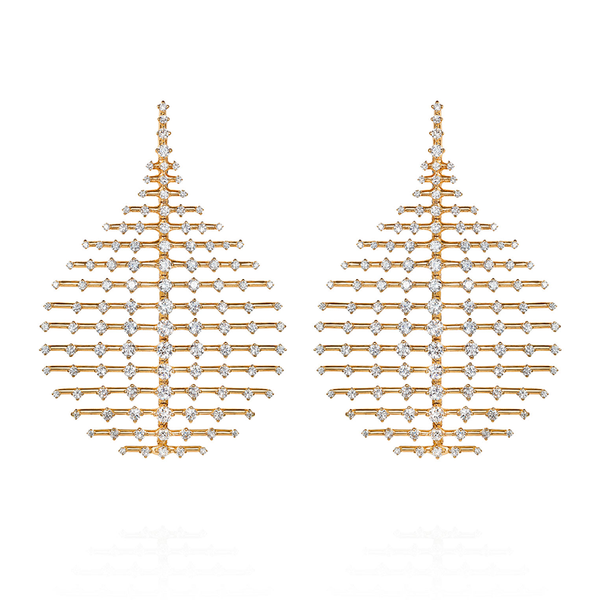 """Disco"" Large 18k Yellow Gold & Diamond Earrings"