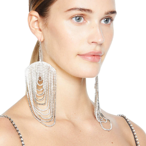 """Draped Chandelier"" Earrings"